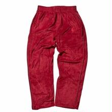 HELLRAZOR LOGO VELOUR PANTS  BURGUNDY