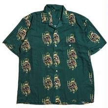 HELLRAZOR GOLDEN HORSE S/S SHIRT DEEP GREEN