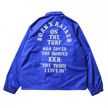 BORNXRAISED THE TOWN COACH JACKET   BLUE
