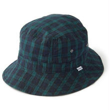 INTERBREED  PATTERNED BUCKET HAT  BLACK WATCH