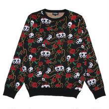 RIPNDIP DEAD ROSE KNIT SWEATER   BLACK