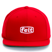 FELT PUFF WORKER CAP RED