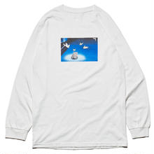 HELLRAZOR X WHIMSY GOD IN EVERYWHERE L/S TEE  WHITE