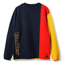 BUTTER GOODS TRES CREWNECK    NAVY / RED / YELLOW