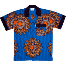 WAFFLESNCREAM  MANDILLAS SHIRT   BLUE/ORANGE