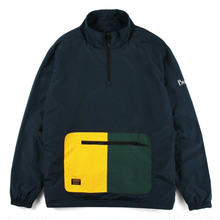 BUTTER GOODS UPWIND NYLON 1/4 ZIP JACKET   NAVY