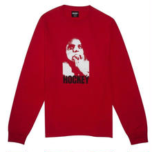 HOCKEY SHOCK L/S TEE-RED