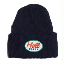 HELLRAZOR MARK PATCH KNIT CAP-NAVY