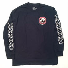 BAKER SKATEBOARDS TRIBUTE L/S TEE NAVY