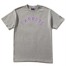 CARROTS COLLEGIATE CARROTS WORDMARK TEE - H, GREY