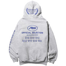 BORN X RAISED OFFICIAL SELECTION HOODY -H,GREY