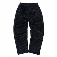 HELLRAZOR LOGO VELOUR PANTS   BLACK