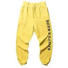 BORN X RAISED BXR TONAL SWEATS MASTARD YELLOW