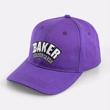 BAKER SKATEBOARDS ARCH 6 PANEL VELCRO HAT   PURPLE