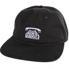 DIAL TONE DIAL STRAPBACK CAP  BLACK