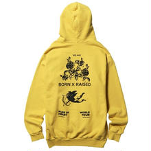 BORN X RAISED PURE OF HEART HOOD M,YELLOW
