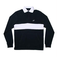 JHF COASTLINE L/S POLO   NAVY