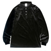 BORN X RAISED VELOUR SHIRT  BLACK