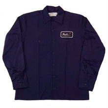 PEELS  WORK L/S SHIRT   NAVY