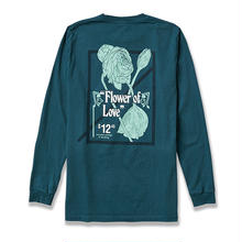 NUMBERS EDITION FLOWER OF LOVE  L/S TEE DARK TEAL