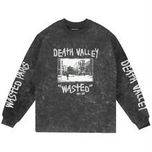 WASTED PARIS DEATH VALLEY L/S TEE- BLEACHED BLACK