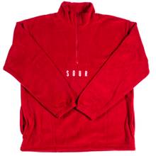 SOUR SOLUTION QUATER ZIP FLEECE   RED