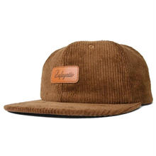 LAFAYETTE LEATHER PATCH 6 PANNEL CORDUROY CAP