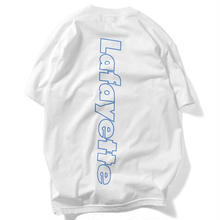 LAFAYETTE  OUT LINE HUGE LOGO TEE  WHITE