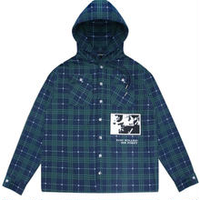 WASTED PARIS HOODED JACKET-TARTANBLUE/GREEN