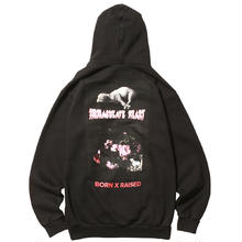 BORN X RAISED LAMB OF GOD HOODY   BLACK
