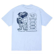 BUTTER GOODS X LABOR CITYWIDE S/S TEE   POWDER BLUE