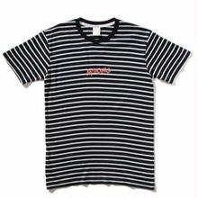 BROTHERHOOD ICONIC STRIPED   S/S TEE     NAVY