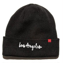CHOCOLATE LOS ANGELES BEANIE   BLACK