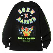 BORN X RAISED HEAT SEEKER L/S TEE BLACK