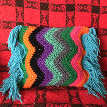 zigzag mini cushion