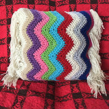 zigzag knit cushion