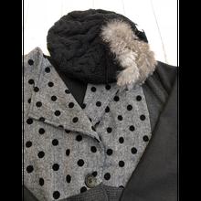 大人 ベレー帽&ジャケットセット.383