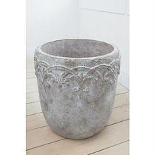 ウンベラータやゴムの木、オリーブなど大型観葉植物に アンティーク加工の陶器鉢