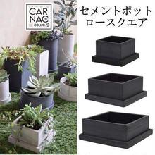 新色ブラック!セメントポットロースクエアブラック Mサイズ多肉植物や塊根植物に