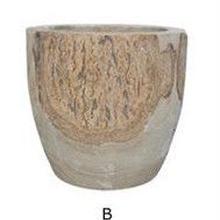 コーデックスや多肉植物に。おしゃれな鉢 天然木を繰り抜いた植木鉢 B