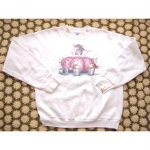90s~ フルーツオブザルーム プリント スウェット/古着 ビンテージ