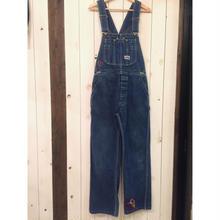 オールド BIG SMITH 刺繍 パッチワーク デニムオーバーオール/古着 ビンテージ