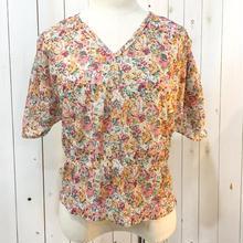 USA製 1970-80s vintage くすみカラー 花柄 トップス/古着 ビンテージ