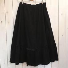 1970s  GUNNIES ブラック コーデュロイ スカート/古着 ビンテージ 70s
