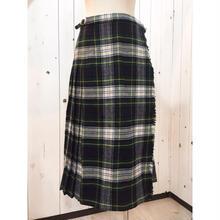 アイルランド製 チェック柄 ウール巻きスカート/古着 ビンテージ