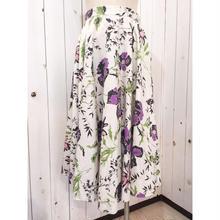 Vintage 50s 花柄 サーキュラー スカート/古着 ビンテージ