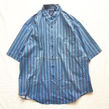 ~1990's  Old GAP ギャップ 3点留め ボタンダウン ストライプ 半袖シャツ / 古着 ビンテージ