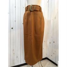 1980年代〜USA製  ブラウン系 ロングスカート/古着 ビンテージ