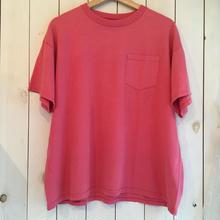 USA製 ピンク コットン  ポケット付き Tシャツ/古着 ビンテージ