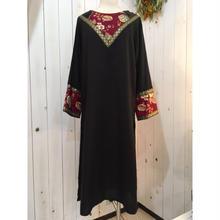 1970s vintage GUNNE SAX オリエンタル ブラック ドレス/古着 ビンテージ